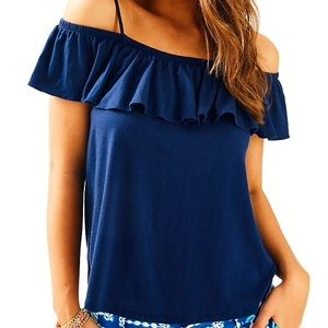 Lilly Pulitzer Tamiami Off the Shoulder Top XS